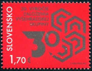 HERRICKSTAMP NEW ISSUES SLOVAKIA Visegrad Group Joint Issue (Poland,Czech)