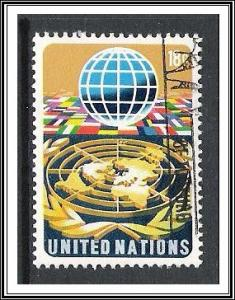 UN New York #251 Globe & Flags Used