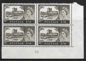 2/6 Bradbury/Wilkinson Castles - Cylinder 6A UNMOUNTED MINT/MNH