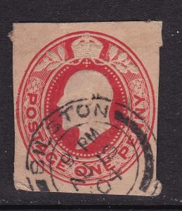 GB 1904 Edward VII 1d Cutout Bilston CDS VFU VGC