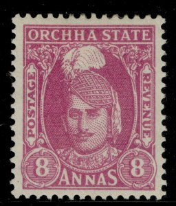 INDIAN STATES - Orchha GVI SG41, 8a magenta, M MINT. Cat £14.