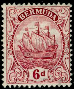 BERMUDA SG50, 6d purple, NH MINT. Cat £19.