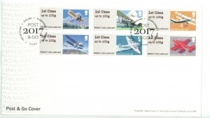 Great Britain 2017 FDC Post and Go Airplanes
