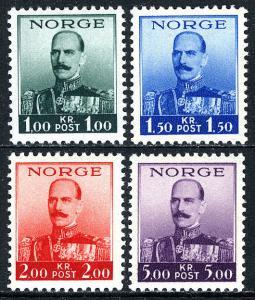 Norway 177-180, MNH. King Haakon VII, 1937-1938