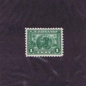 SC# 401 UNUSED ORIGINAL GUM MINT NEVER HINGED 1c BALBOA, 1914, XF GEM LOOK!