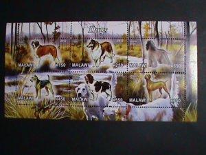Malawi Stamp:2012-Beautiful Dogs CTO Stamp sheet