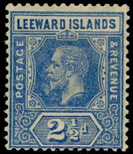 LEEWARD ISLANDS SG50, 2½d bright blue, M MINT.