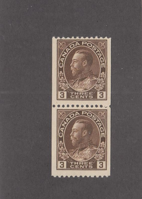 CANADA # 134 MNH PAIR KGV 3cts ADMIRALS CAT VALUE $100