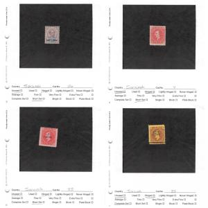 Lot of 19 Sarawak Mixed Condition Stamps Scott Range # 7 - 209 #138628 X
