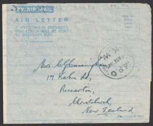 NEW ZEALAND FORCES IN EGYPT 1945 formular airletter MPO/KW cds..............K214