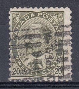 Canada Scott #94 20 cent olive green King Edward VII HCV
