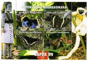 Butterflies JAPEX' 99 Philatelic Sheet Perforated Mint (NH)