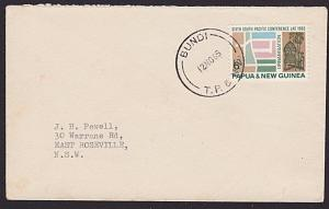 PAPUA NEW GUINEA 1965 cover ex BUNDI........................................3786