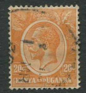 Kenya & Uganda - Scott 25 - KGV Definitive -1922 - Used- Single 20c Stamp