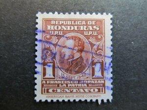A4P11F16 Honduras Postal Tax Stamp 1941 1c used