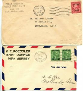 CANAL ZONE SC #97 #C1 Covers Overprint Postage Stamps Collection