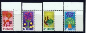 SINGAPORE MALAYSIA 1972 National Day Set SG 178 to SG 181 MNH