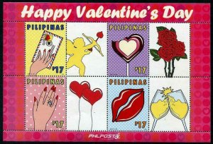 HERRICKSTAMP NEW ISSUES PHILIPPINES Sc.# 3712 Valentines Day 2017 S/S