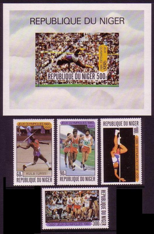 Niger Summer Olympics Moscow 1980 4v+MS SG#797-MS801 MI#695-699