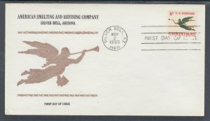 US Planty 1276-1 FDC. 1965 Christmas, FIRST CACHET American Smelting & Refining