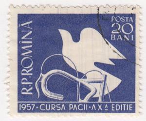 Romania, Sc # 1154, Used, 1957, Peace