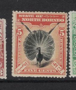 North Borneo SG 100 MOG (5dvp)