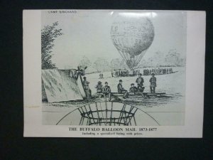 THE BUFFALO BALLOON MAIL 1873-1877 by ROBERT SCHOENDORF