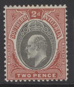 SOUTHERN NIGERIA SG12 1902 2d GREY-BLACK & CHESTNUT MTD MINT