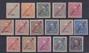Macao 1911 SC 147-157D Mint Set NGAI