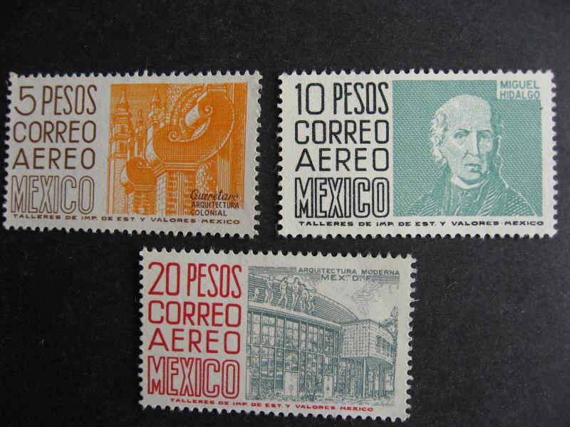 Mexico Sc C296-8 MNH (but C298 has a light crease) see pictures