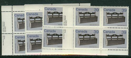 Canada - 1985 39c Antique Artifact Blocks mint #928