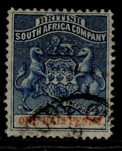RHODESIA QV SG18, ½d dull blue & vermilion, FINE USED.