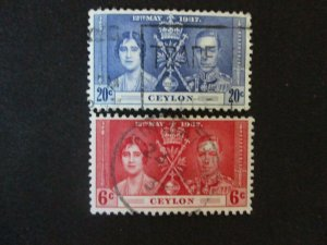 Ceylon #275,277 Used WDWPhilatelic (H6L8)