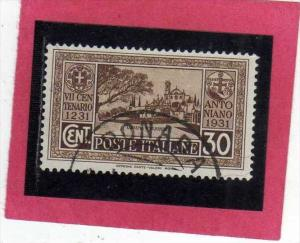 ITALIA REGNO ITALY KINGDOM 1931 SETTIMO 7 CENTENARIO MORTE S. ANTONIO 7TH CEN...