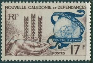 New Caledonia 1963 SG368 17f Freedom from Hunger MLH