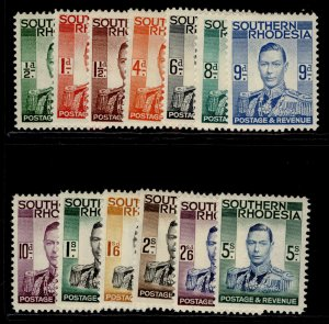 SOUTHERN RHODESIA GVI SG40-52, complete set, NH MINT. Cat £85.