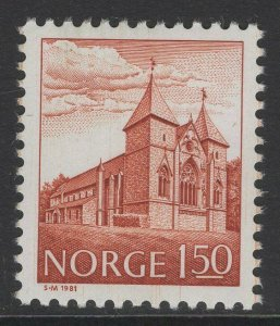 NORWAY SG777 1981 1k50 DEEP VENETIAN RED MNH