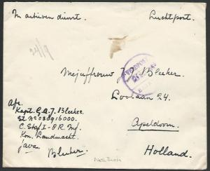 NETHERLANDS INDIES 1946 cover airmail to Holland, VELDPOST / BATAVIA cds..62496