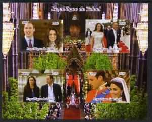 Chad 2012 Royal Wedding - William & Kate #1 imperf sh...