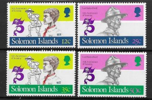 Solomon Islands MNH Set Of Boy Scouts 1982