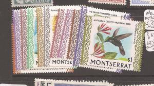 Montserrat 1970 Birds SG 242-52 MOG (4dba)