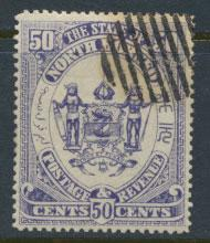 North Borneo  SG 82  CTO   Chalky blue    please see scans & details