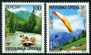 HERRICKSTAMP BOSNIA (SERBIA ADMIN) Sc.# 222-23 Europa 2004