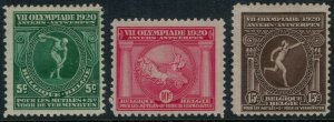 Belgium #B48-50* CV $5.80 1920 Olympic games Antwerp, Belgium