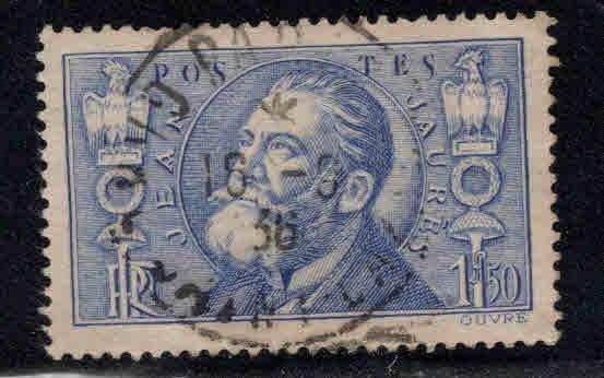 FRANCE Scott 314 Used Jean Leon Jaures stamp 1936