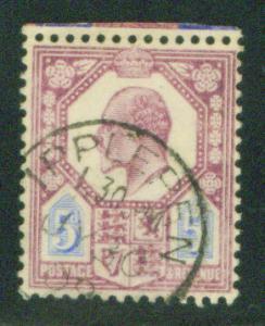 Great Britain Scott 134, KEVII CV$22.50 Margin copy 1902-11