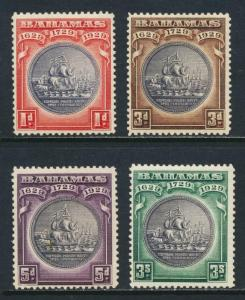 BAHAMAS 1930, TERCENTENARY VALUES TO 3sh VF MLH SG#126-8/9 CAT£63 $82(SEE BELOW)