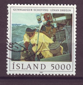J25447 JLstamps 1981 iceland set of 1 used #548 fishermen