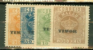 B: Timor 1-10 unused no gum CV $88.50; scan shows only a few