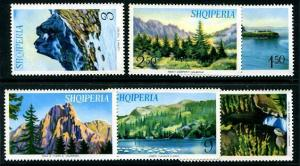 HERRICKSTAMP ALBANIA Sc.# 801-06 Views Stamps Mint NH